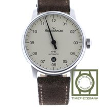 Meistersinger N° 03 Steel 40mm Champagne Arabic numerals