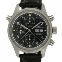IWC Pilot Double Chronograph Otel 42mm Negru