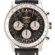 Breitling Navitimer 01 pre-owned 43mm Black Chronograph Calf skin