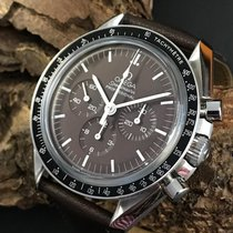 Omega Speedmaster Professional Moonwatch pre-owned 42mm Brown Chronograph Leather