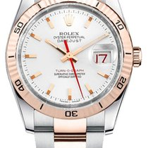 Rolex Datejust Turn-O-Graph new Automatic Watch with original box 116261-WHTSO