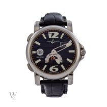 Ulysse Nardin Dual Time Steel 42mm Black No numerals