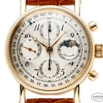 Chronoswiss Yellow gold Automatic Silver Arabic numerals 38mm pre-owned Lunar