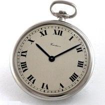 까르띠에 손목 시계 중고시계 1985 플라티늄 43mm 로마숫자 수동감기 시계만 있음