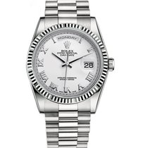 Rolex DAY-DATE 36mm White Gold President White Roman