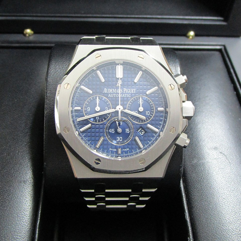 c4ffe9ff7cf Audemars Piguet Royal Oak Chronograph Stainless Steel/Blue Dial for $34,700  for sale from a Trusted Seller on Chrono24