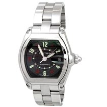 Cartier Large Stainless Steel Cartier Roadster #W62025V3 Black...