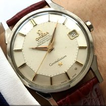 Omega Great Omega Constellation Pie Pan Steel Onyx Indices