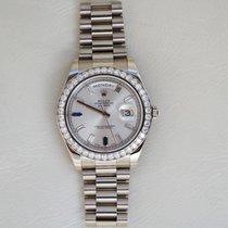 Rolex Day-Date II White gold 41mm Silver UAE, Gold and Diamond Park Bldg 5 Shop 6 Dubai