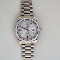 Rolex Day-Date II White gold 41mm Silver UAE, Gold and Diamond Park Bldg 5 Shop 6 Dubai