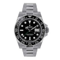 Rolex GMT MASTER II Steel 40mm Black Ceramic Watch 116710LN