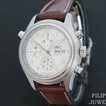 IWC Pilot Double Chronograph Staal 42mm Bruin Nederland, Maastricht