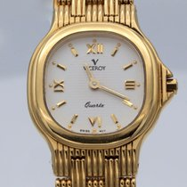 Viceroy Yellow gold 30mm Quartz 1345 new