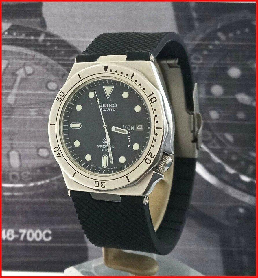 the latest cd0c7 0b99a Seiko SQ Sports 100 Diver 7546-6030 Quartz 40mm Green Mov-t Steel