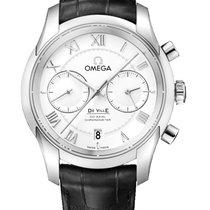 Omega De Ville Co-Axial Steel 42mm Silver Roman numerals
