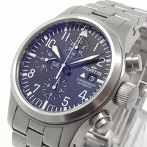 Fortis Silver 42mm Automatic Fortis B-42 Flieger Chronograph 656.10.11 Automatik pre-owned