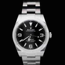 Rolex Explorer Staal 39mm Zwart Arabisch Nederland, Wageningen