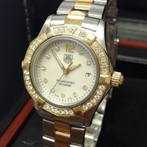 TAG Heuer Aquaracer Lady Gold/Steel 27mm Mother of pearl No numerals