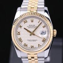 Rolex Datejust Zlato/Ocel 36mm Stříbrná Římské