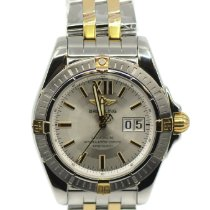 Breitling Galactic 41 Gold/Steel 41mm Silver No numerals United States of America, New York, New York