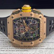Richard Mille RM 011 Ruzicasto zlato 49.94mmmm Proziran Arapski brojevi