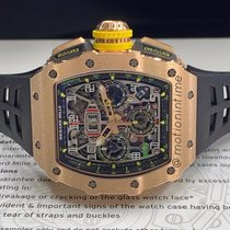 Richard Mille RM 011 Pозовое золото 49.94mmmm Прозрачный Aрабские