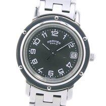 Hermès Clipper Stahl 24mm Grau