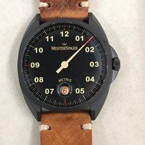 Meistersinger Carbon Automatic Black Arabic numerals 38mm new Metris