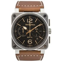 Bell & Ross Acero 42mm Automático BR0394-ST-G-HE/SCA nuevo