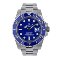 Rolex Submariner 18K White Gold Watch Blue Ceramic Watch