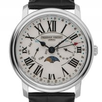 Frederique Constant Classics Business Timer Steel 40mm White Roman numerals