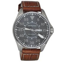 Hamilton Khaki Pilot Day Date H64715545 HAMILTON KHAKI AVIATION Acciaio Blu Marrone 46mm new