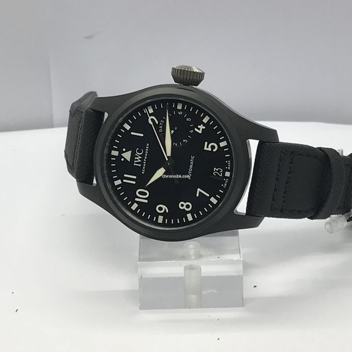 186edafb5 IWC - Big Pilot Top Gun Automatic Black Dial- IW502001 Big... for £7,209  for sale from a Seller on Chrono24