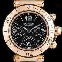 Cartier Pasha Seatimer pre-owned 42mm Rose gold
