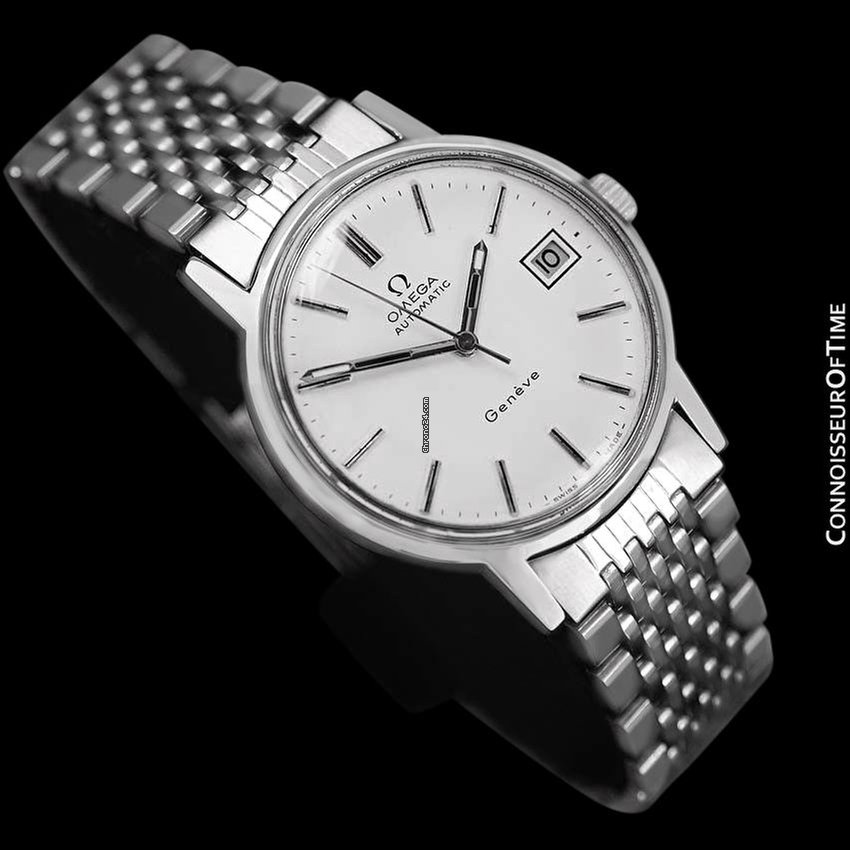 Omega 1974 geneve vintage mens automatic watch with quick for Fast set gartenpool xxl