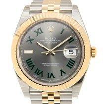 勞力士 Datejust Gold And Steel Gray Automatic 126333GYGREENRN_J