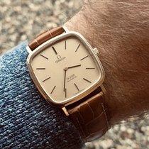 Omega De Ville Quartz battery vintage Gold mens watch + Box