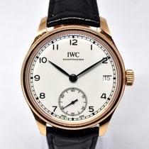 IWC Portuguese Hand-Wound Aur roz 43mm Alb Arabic