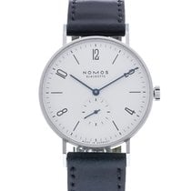 NOMOS Tangente 38 pre-owned 37.5mm White Leather