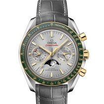 Omega Speedmaster Professional Moonwatch Moonphase Acero y oro Gris