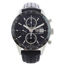 TAG Heuer Steel Automatic Black 41mm new Carrera Calibre 16