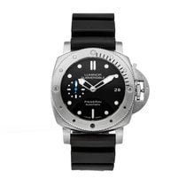 Panerai Steel Automatic Black No numerals 42mm pre-owned Luminor Submersible 1950 3 Days Automatic