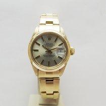 Rolex Oyster Perpetual Lady Date Oro giallo 26mm Bianco Senza numeri Italia, Rassina