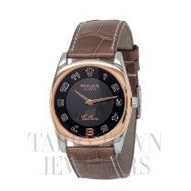Rolex Cellini Danaos Steel 34mm Black Arabic numerals