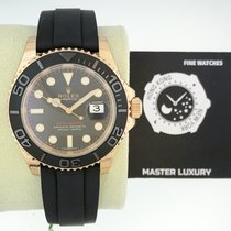 劳力士  116655 Yacht-Master Everose Gold 40 mm Black Dial Rubber