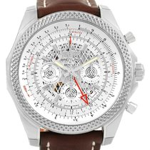 Breitling Bentley Gmt Chronograph Silver Dial Mens Watch...