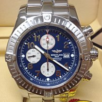 Breitling Super Avenger A13370 48mm Blue Dial - Serviced by...