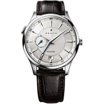 Zenith Steel Automatic Silver 40mm new Elite Dual Time