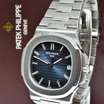 Patek Philippe Nautilus Stainless Steel Blue Dial Watch...