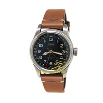 Oris Acier 40mm Remontage automatique 01 754 7741 4037-Set LS ORIS Big Crown Movember Nero Marrone nouveau